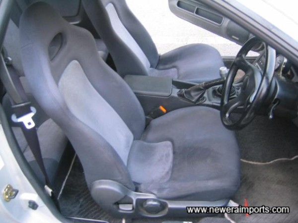 Driver's seat shows correct wear for mileage.