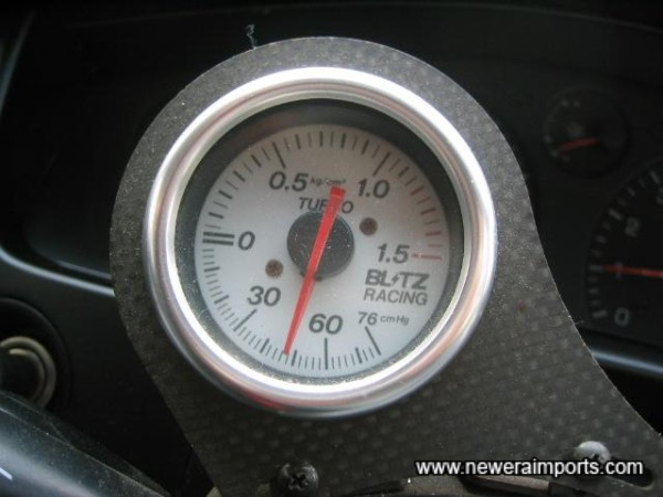 Blitz Boost Gauge, neatly fitted.