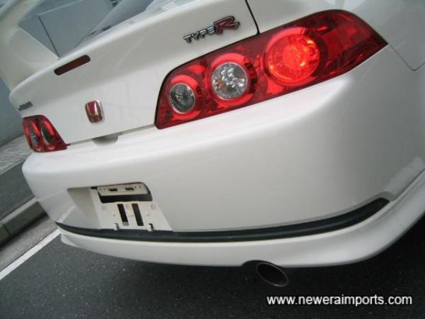Redesigned rear bumper.