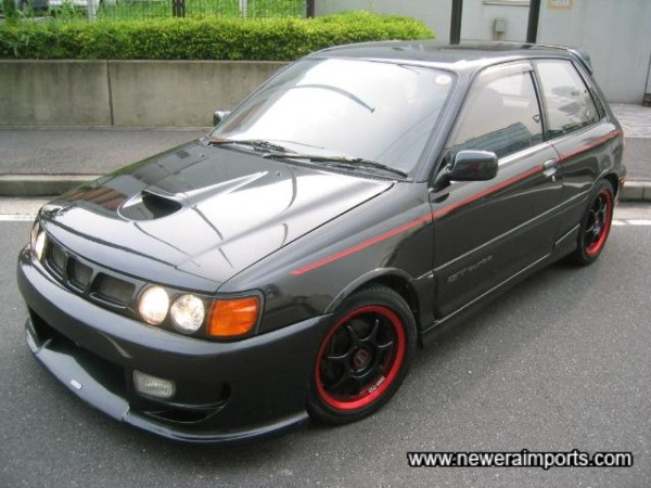 Agressive, cheeky looks - give some indication of the performance available from this rare Starlet Turbo facelift model.