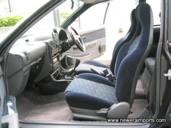Interior's in excellent condition.