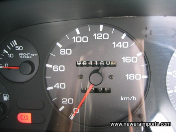Original Odometer Readng - Before recalibration to miles in UK