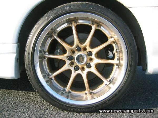 18'' Volk Racing GT-N 2 piece alloy wheels.