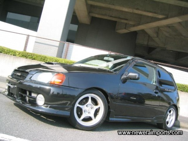 Tanabe Sustec Pro coilover kit allows ride height to be lowered.