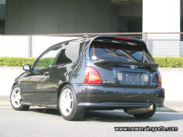 Fitted with the optional rear lower spoiler too!