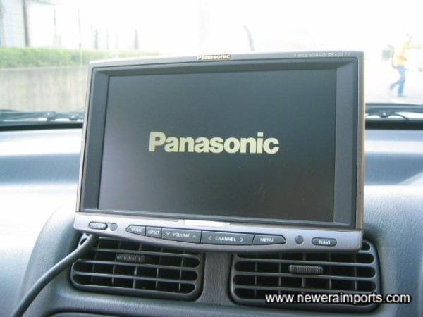 Panasonic TV / Sat Nav system is fitted.