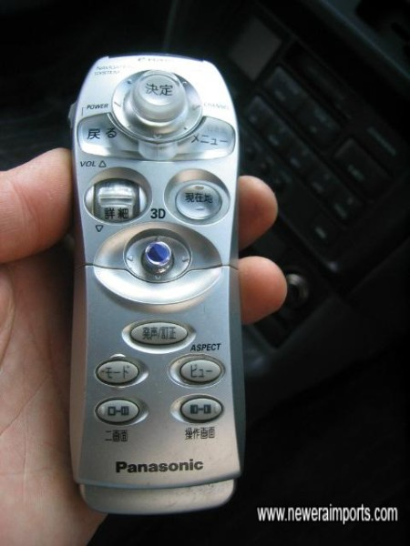 Remote control for the TV - Navigation system.