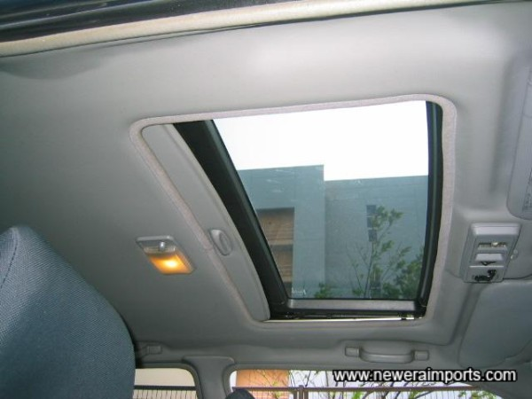 Rare optional glass sunroof (Electric).