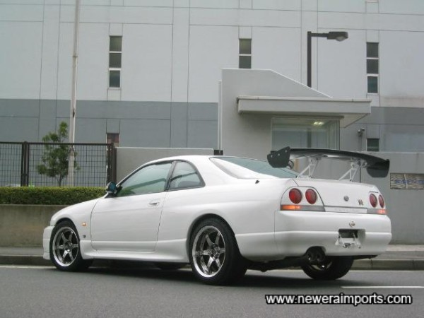 Carbon Look 3D Adjustable rear wing. JDM Street style!