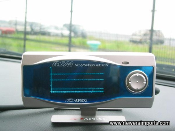Rev Speed Meter - can be easily removed without trace.