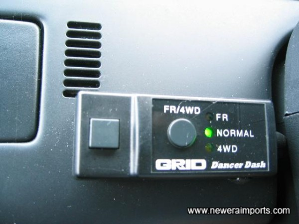 4WD controller can be removed if preferred. Located to the left of the steering column.