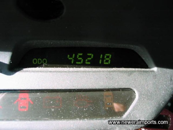 Odometer shows mileage after conversion in the UK.