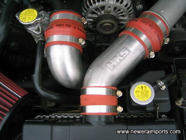 HKS intercooler pipes.