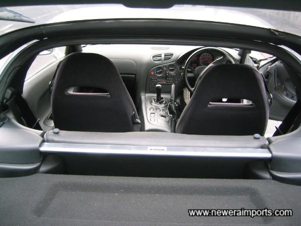 Mazdaspeed alloy rear strut brace.