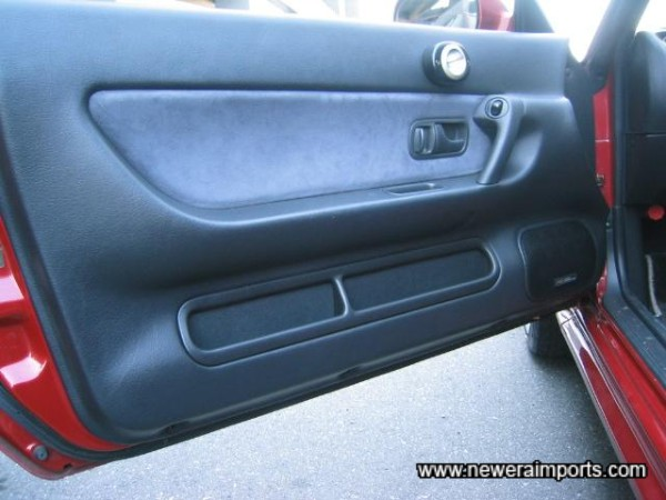 Note the door panels are also unworn and in excellent condition.