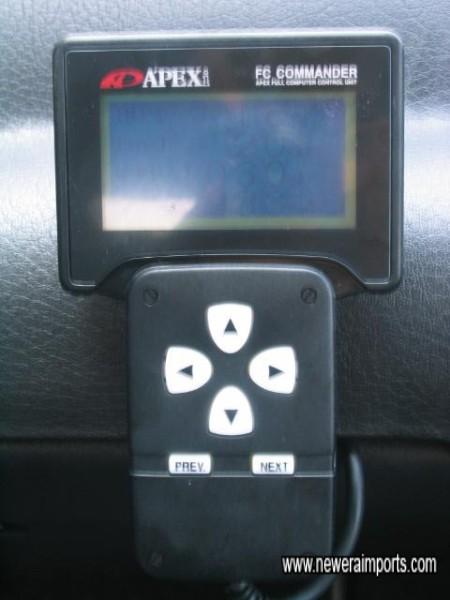Apexi Power FC ECU's hand held controller / display unit.