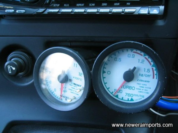 Note: Greddy gauges are to be housed in an A Pilar Pod.