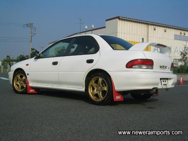 Red & white JDM rear lights.