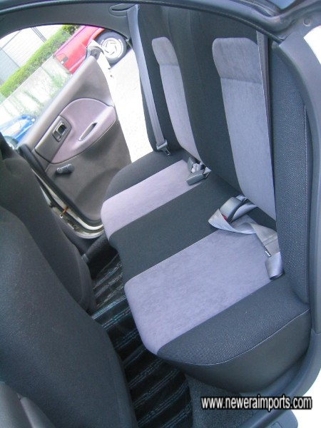 Back seats look as if they`ve barely been sat on!