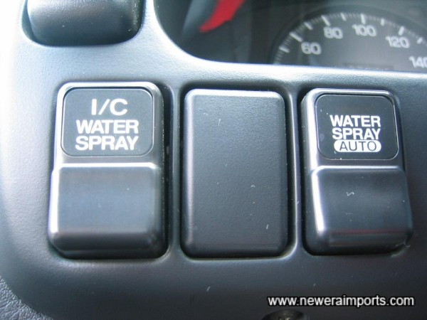 Water jet controls for intercooler spray.