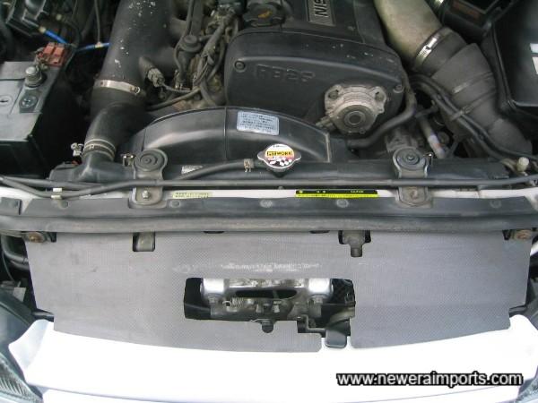 Carbon radiator shroud - helps efficiency.