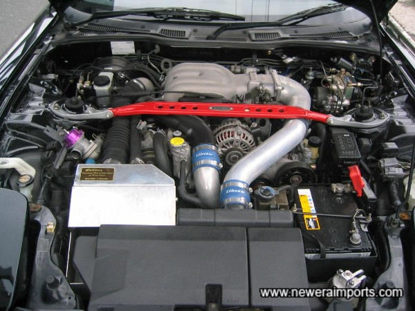 Engine bay in clean condition.