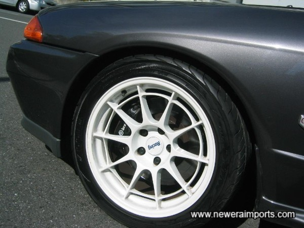 Enkei wheels are completely unmarked!