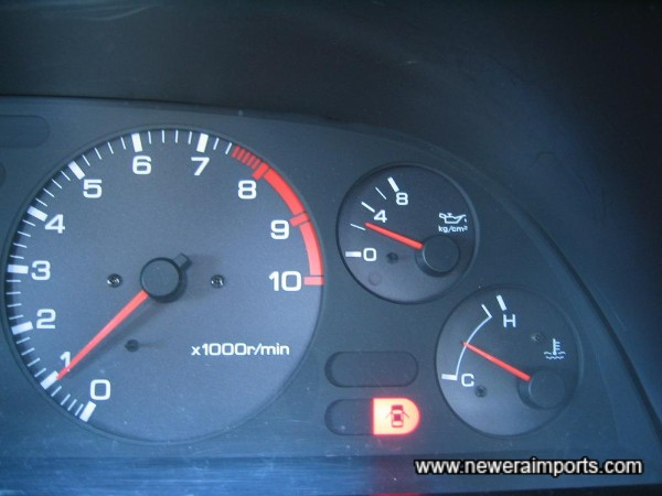 Oil pressure once the engine's warmed.