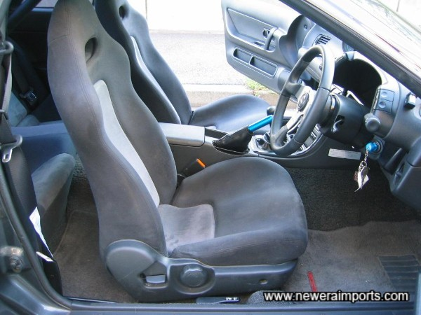 Driver's seat in excellent condition - unusual on most GT-R's !