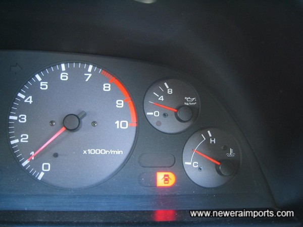 Oil pressure when warm. Again a very healthy example.