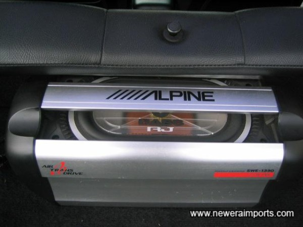 Alpine Subwoofer in addition to top spec ICE!