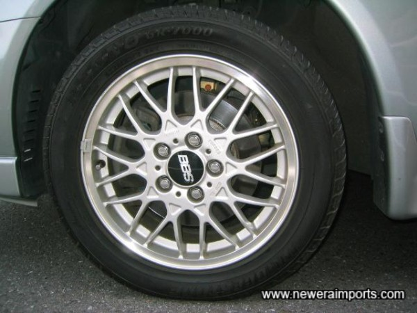 Original option 16'' BBS Alloys - fitted with good tyres.