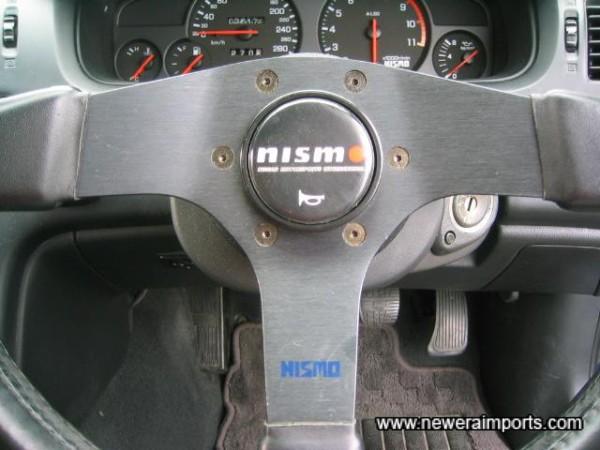 Nismo steering wheel.