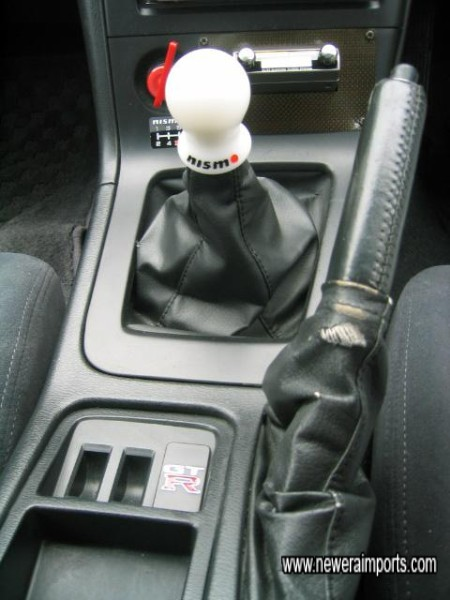 Handbrake gaiter has some wear - bespoke carbon leather gaiters are available inexpensively.