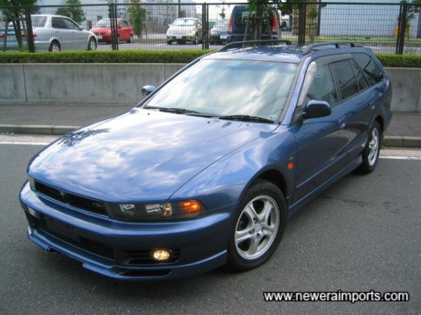Blue - Purple metallic matches well with the tan leather interior.