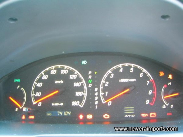 All warning lights present & operating correctly.