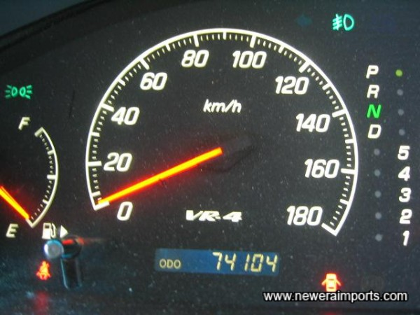 Original Odometer reading - before recalibration in the UK to miles.