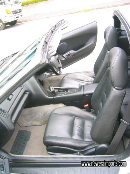 GZ models are equipped with leather seats.