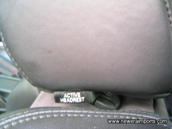 Active headrests help prevent whiplash in the event of an accident.