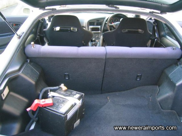 Boot carpet is to be replaced with a new item - from Toyota.
