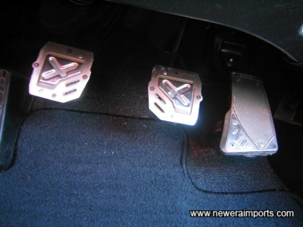 Pedal covers fitted.