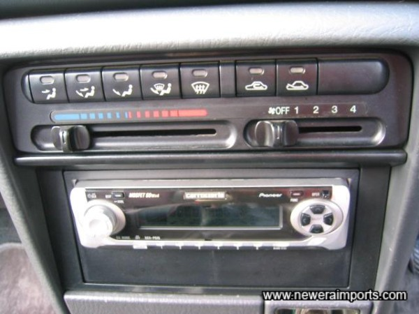 High power Pioneer head unit.