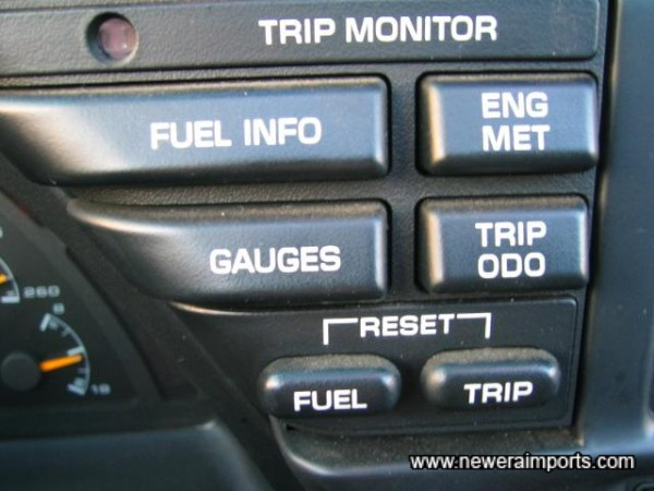 Controls for trip monitor.