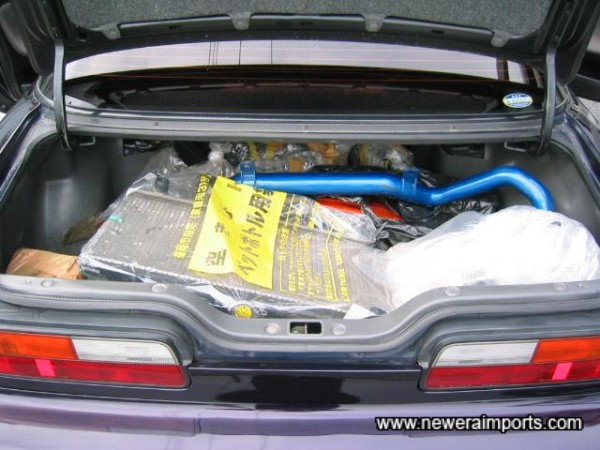 Spares in the boot (Mostly original items).