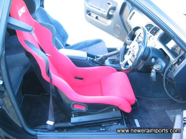 Recaro seat offers much greater support than the standard item. Very comfortable too!