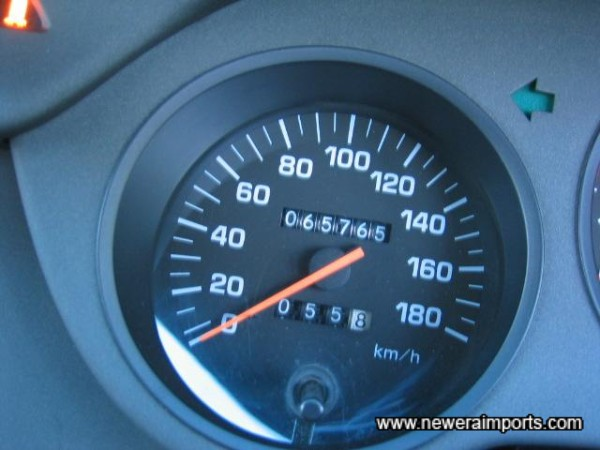 Odometer is to be recalibrated to miles & Speed to mph in UK.
