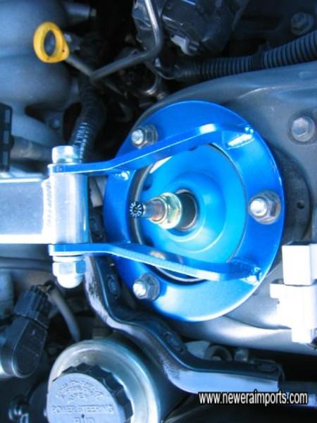 Cusco adjustable suspension - seting is close in feel to standard Bilstein shock absorbers.