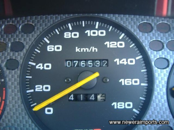 Mileage shown before odometer is recalibrated in UK.