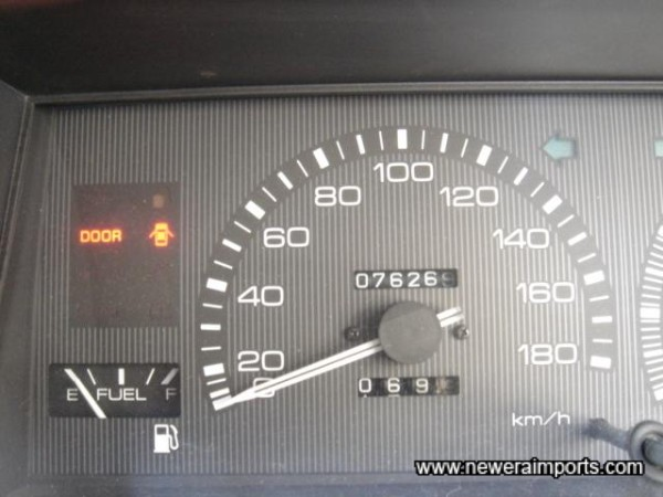 Original Odometer reading - before recalibration to miles in the UK.