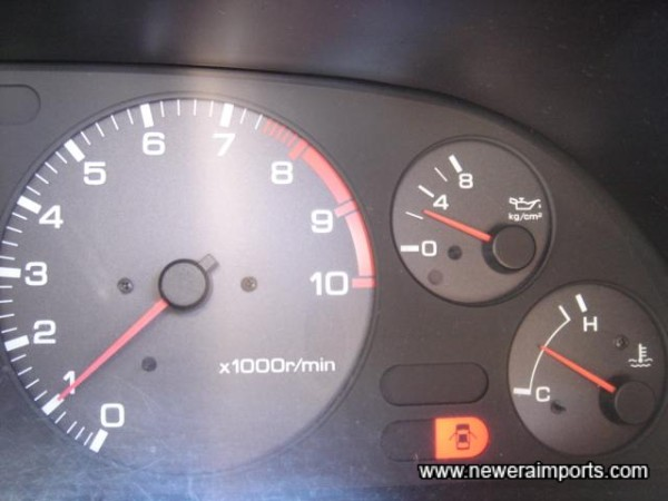 Oil pressure when at normal operating temperature - 2kg/cm2 - Healthy.